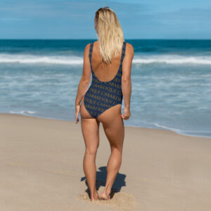 Cabaresque Navy patterned One-Piece Swimsuit
