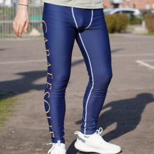 Cabaresque sports leggings (navy, with front pouch)