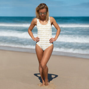 Cabaresque White patterned One-Piece Swimsuit